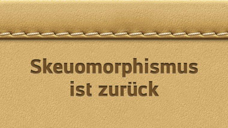 Lederoptik Skeuomorphismus