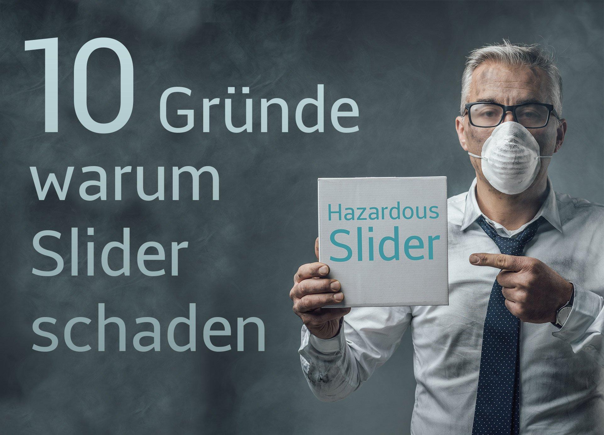 10 Gründe warum Website Slider mehr schaden als nutzen