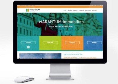 Web- und Markenentwicklung für die WARANTUM Immobilien GmbH