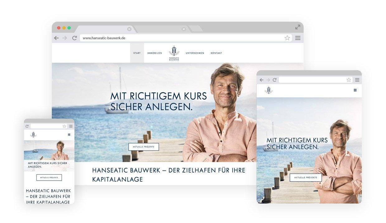 Darstellung der Website Hanseatic Bauwerke