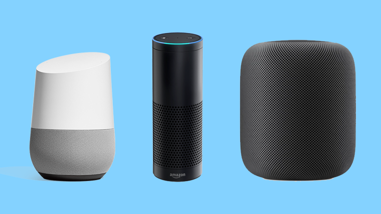 Google Home, Amazon Alexa, Apple HomePod