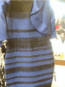 Blau Schwarzes Kleid