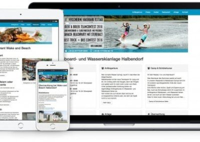 Webdesign Wake and Beach von App bis Web