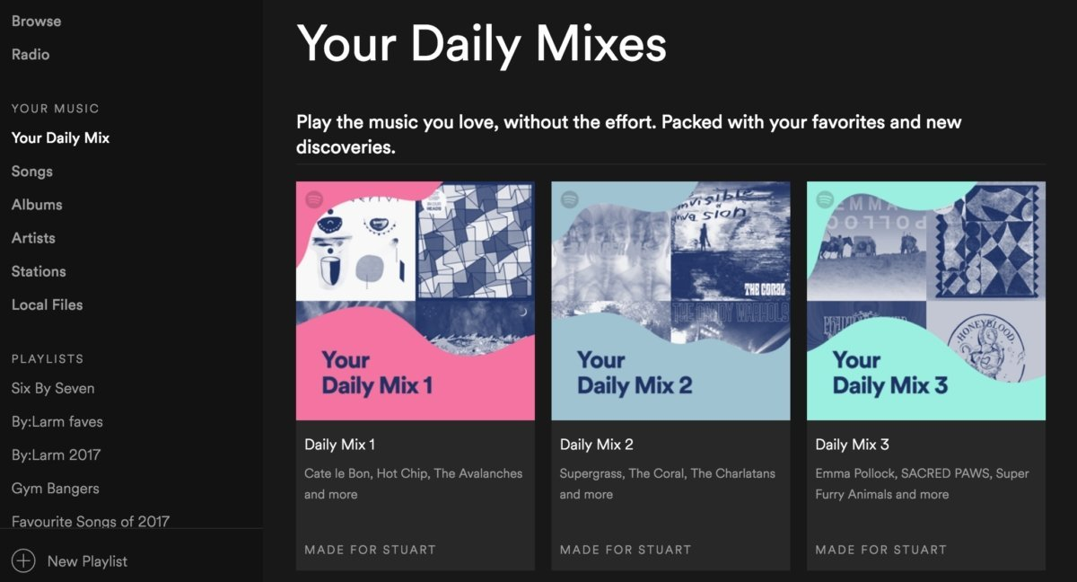 Spotify Screendesign von Deine Mixtapes Rubrik