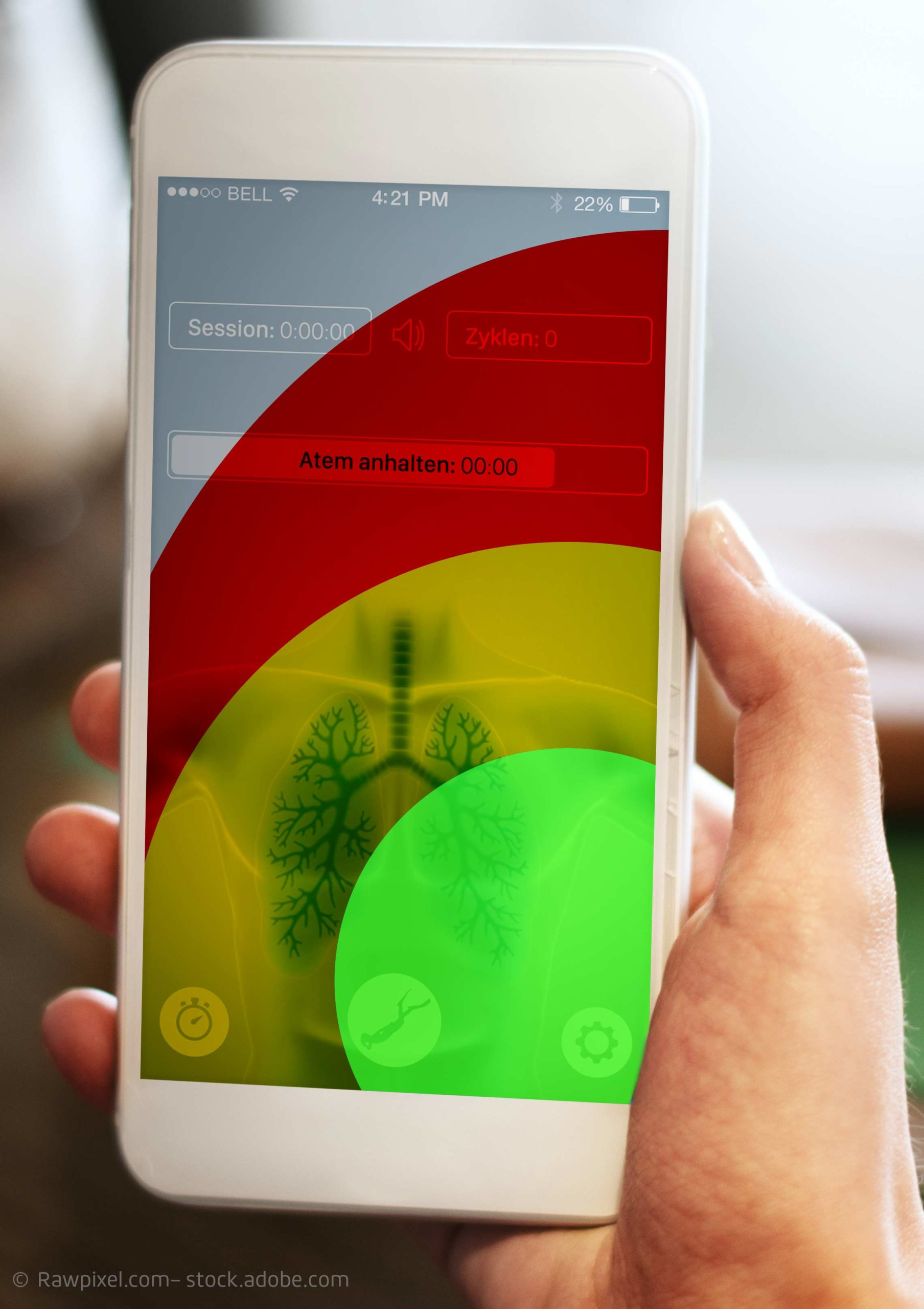 App Konzept mit Hotspots