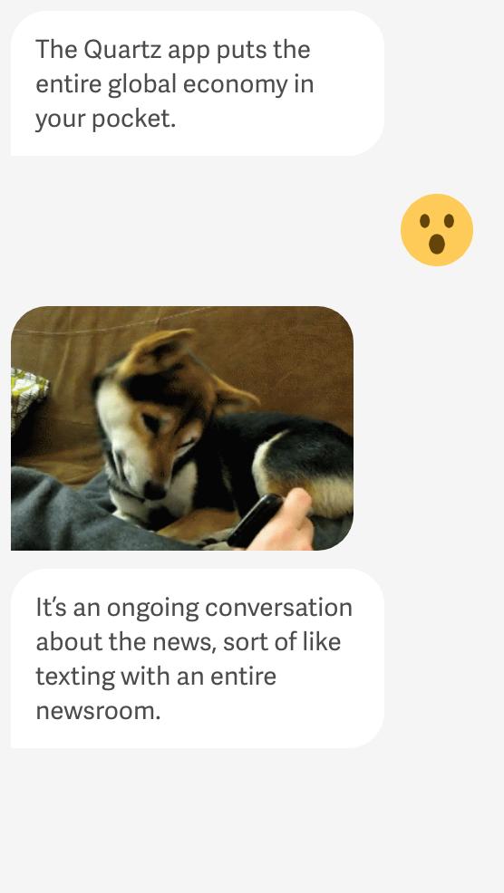 Quarz Nachrichten-App lässt dich mit einem Bot reden