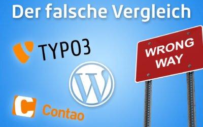 WordPress vs. Typo3 & Co. –  der Vergleich von Äpfel mit Birnen