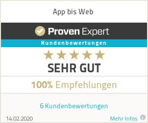 App bis Web - Provenexpert Bewertung