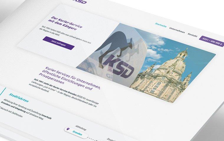 KSD – Kurier-Service Dresden Website