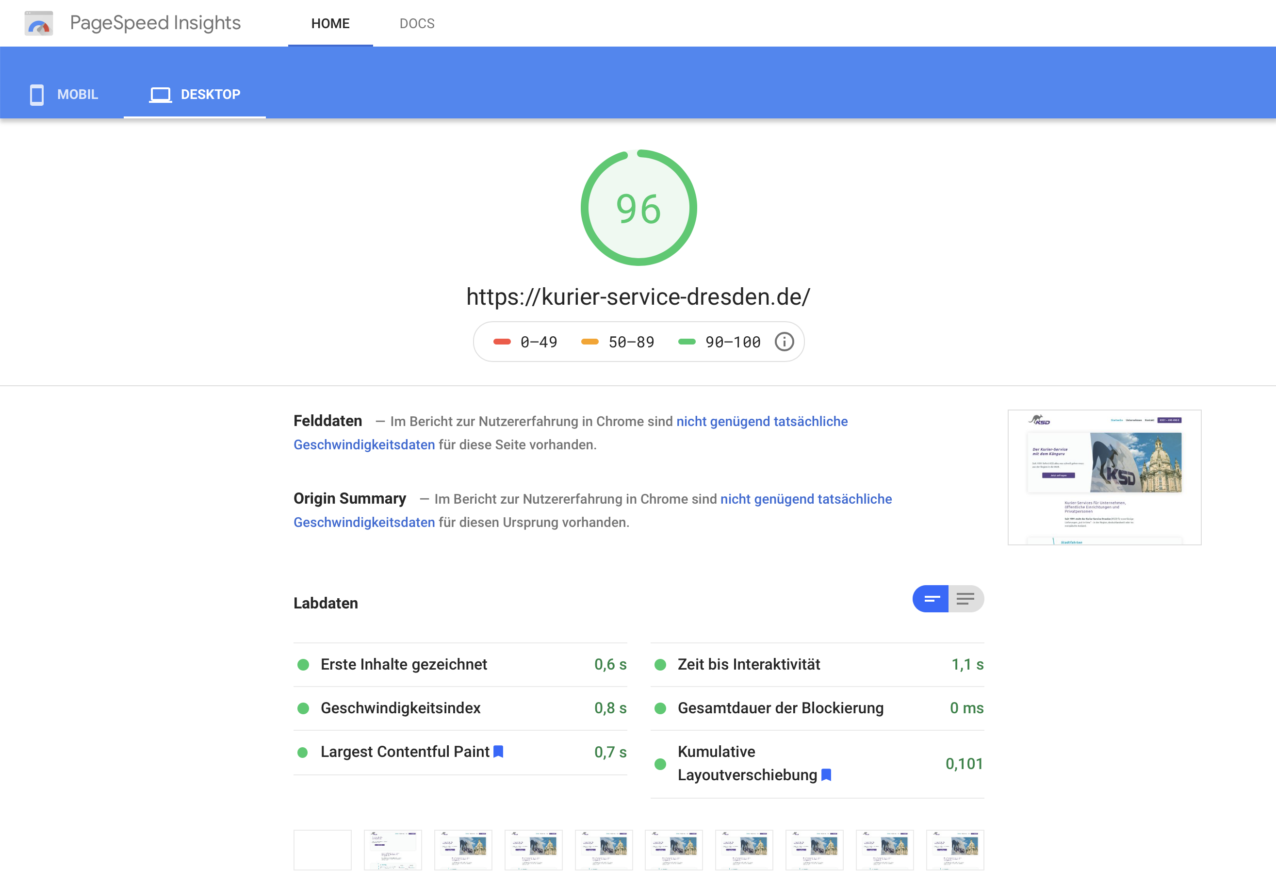 Google PageSpeed mit WordPress Websites von App bis Web
