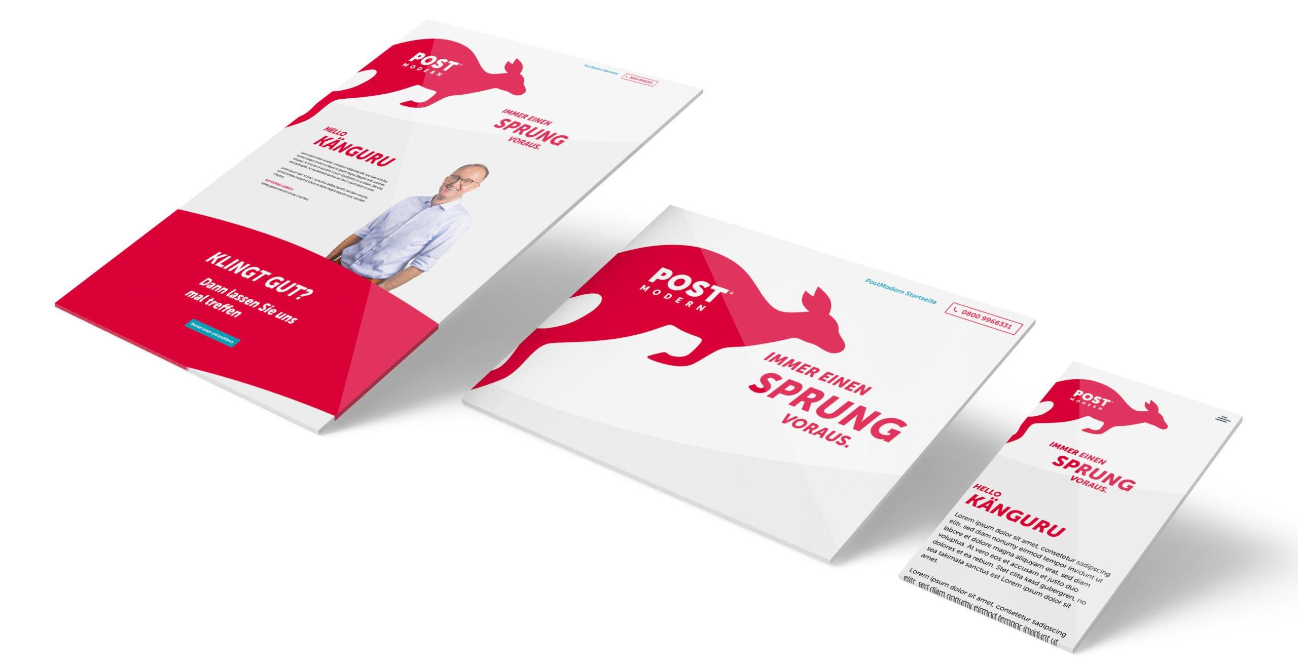 PostModern Markenerlaunch Känguru Landingpage mit WordPress