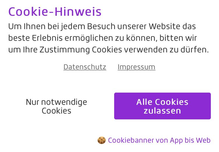 Cookiebanner Plugin für WordPress Made in Germany