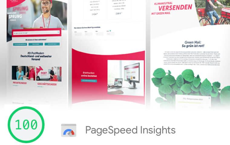 schnellste WordPress Website beim PageSpeed mit 100 Punkten bewertet