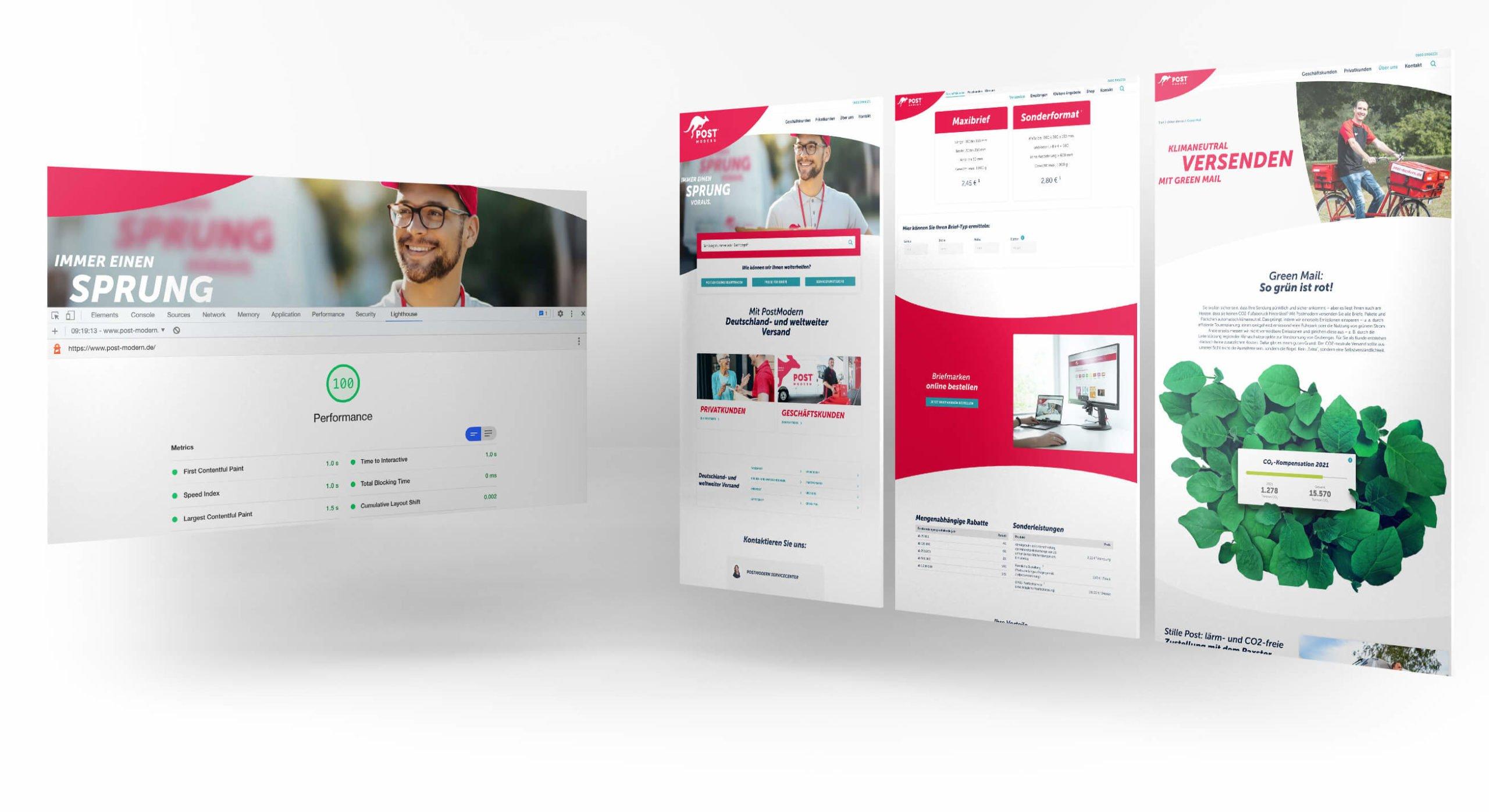 WordPress Website mit 100 PageSpeed Punkten Mobile